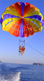 Parasailing, also known as parascending is a recreational kiting activity